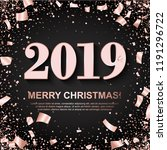 merry christmas banner with... | Shutterstock .eps vector #1191296722