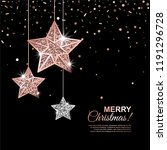 merry christmas glowing banner... | Shutterstock .eps vector #1191296728