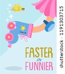 faster is funnier in rollers  | Shutterstock .eps vector #1191303715