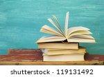 opened book | Shutterstock . vector #119131492