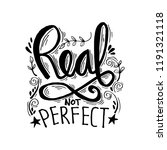 real not perfect hand lettering  | Shutterstock .eps vector #1191321118