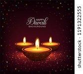 happy diwali diya oil lamp... | Shutterstock .eps vector #1191322555
