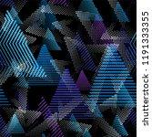 sport pattern. seamless... | Shutterstock .eps vector #1191333355