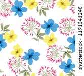 blue and yellow vector flowers... | Shutterstock .eps vector #1191341248