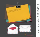 collection of various papers ... | Shutterstock . vector #119134312