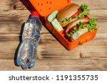 bottle of water and school... | Shutterstock . vector #1191355735