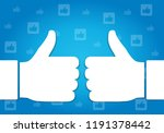 thumbs up like hand symbol | Shutterstock .eps vector #1191378442