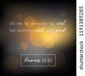 bible verse from romans ... | Shutterstock .eps vector #1191385285
