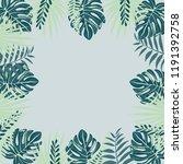 frame from trendy summer... | Shutterstock .eps vector #1191392758
