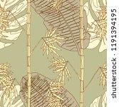 tropical pattern. seamless...   Shutterstock .eps vector #1191394195