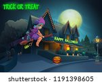 happy halloween background  ... | Shutterstock .eps vector #1191398605
