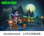 happy halloween background  ... | Shutterstock .eps vector #1191398608