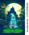 halloween party poster... | Shutterstock .eps vector #1191398665
