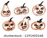 halloween. a set of festive... | Shutterstock .eps vector #1191403168