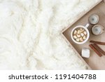 cup of hot chocolate with... | Shutterstock . vector #1191404788