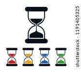 flat hourglass on white... | Shutterstock .eps vector #1191405325