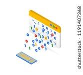 isometric illustration of the... | Shutterstock .eps vector #1191407368