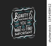 important typography quote | Shutterstock .eps vector #1191408412