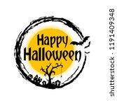 happy halloween with pumpkin ...   Shutterstock .eps vector #1191409348