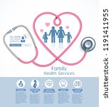 family health services vector... | Shutterstock .eps vector #1191411955