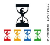 euro symbol in hourglass on... | Shutterstock .eps vector #1191414112