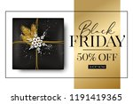 vector black friday sale banner ... | Shutterstock .eps vector #1191419365