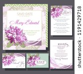 wedding invitation cards with... | Shutterstock .eps vector #1191429718
