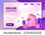 ecommerce isometric sale design ... | Shutterstock .eps vector #1191431425