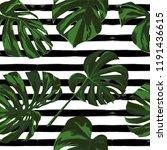 tropical print. jungle seamless ... | Shutterstock .eps vector #1191436615