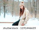 winter portrait of beautiful...   Shutterstock . vector #1191446635