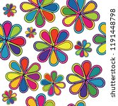 abstract floral colorful... | Shutterstock .eps vector #1191448798