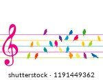 abstract colorful music stave... | Shutterstock .eps vector #1191449362