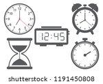 set of different clocks. vector ...   Shutterstock .eps vector #1191450808