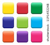 colorful square buttons. vector ...   Shutterstock .eps vector #1191452248