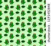 abstract seamless monster... | Shutterstock .eps vector #1191452848