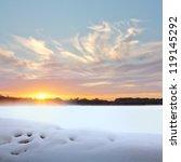 sunset in winter. winter... | Shutterstock . vector #119145292
