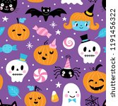 seamless pattern for halloween... | Shutterstock .eps vector #1191456322