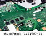 disassembled laptop on a white... | Shutterstock . vector #1191457498