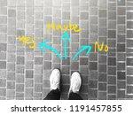 top view of selfie feet on...   Shutterstock . vector #1191457855