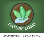 logo vector reforestation and... | Shutterstock .eps vector #1191459742