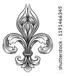 a fleur de lis heraldic coat of ... | Shutterstock .eps vector #1191466345