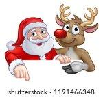 santa claus and reindeer... | Shutterstock .eps vector #1191466348