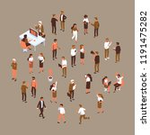isomeric office people vector... | Shutterstock .eps vector #1191475282