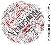 vector conceptual monsoon... | Shutterstock .eps vector #1191475942