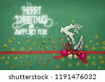 christmas background with red... | Shutterstock . vector #1191476032