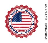 stamp with text made in usa.... | Shutterstock .eps vector #1191476725