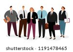 business people in suits and... | Shutterstock .eps vector #1191478465