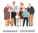 big family. happy families... | Shutterstock .eps vector #1191478495