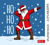 dabbing santa claus  vector... | Shutterstock .eps vector #1191482095