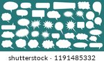 set of speech bubbles. blank... | Shutterstock .eps vector #1191485332
